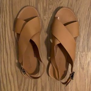 Madewell leather criss cross sandals